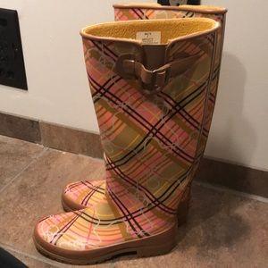 Speedy topsider rain boots